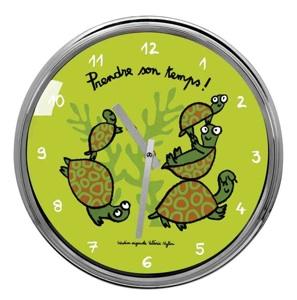 Horloge-tortue-vert-n
